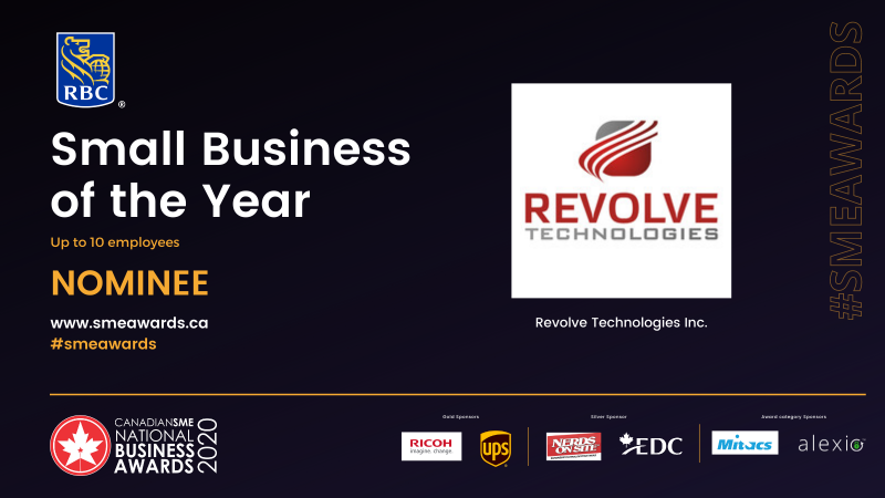 Revolve Technologes small business of the year 2020